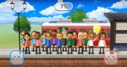 Cole, Fumiko, Ryan, James, Hiromi, Ashley, Hiroshi, Abby, Gabi, Kentaro, Tatsuaki, Fritz, Yoshi, Greg, and Yoko featured in Commuter Count in Wii Party