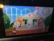 Elisa and Gwen in amusement park on Tomodachi Life