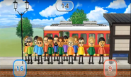 Rin, Anna, Michael, Kentaro, Gabriele, Miyu, Nelly, Ashley, Asami, Megan, and Shinnosuke featured in Commuter Count in Wii Party