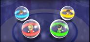 Eddy, Takumi, and Asami participating in Crash Balls in Wii Party