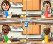 Luca, Hiroshi and Stéphanie in Chop chops
