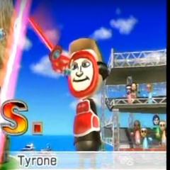 Tyrone in Swordplay Duel.