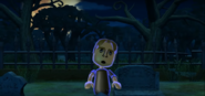 Abe as a Zombie in Zombie Tag in Wii Party