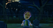 Yoshi as a Zombie in Zombie Tag in Wii Party