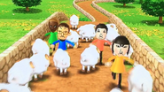 Daisuke, Pablo, Emma and Marisa participating in Ram Jam in Wii Party