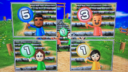 Patrick, Marco, Giovanna and Misaki participating in Strategy Steps in Wii Party