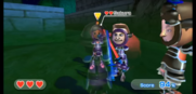 Tyrone (right) wearing Purple Armor in Swordplay Showdown