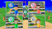 Hiromasa, Asami and Pierre participating in Strategy Steps in Wii Party
