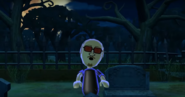 Martin as a Zombie in Zombie Tag in Wii Party