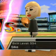 Silke pitching in Baseball.