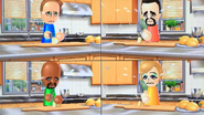 Barbara, Victor, Matt and Alisha participating in Chop Chops in Wii Party