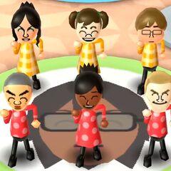 Eva in Swap Meet with Midori, Chris, Takashi, Sakura, and Tyrone.