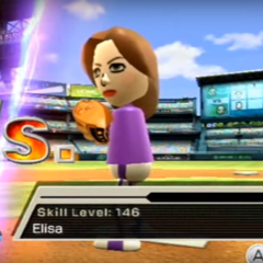 Elisa as the 1st player in Baseball.