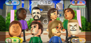 Sandra, Victor, Fumiko, Gabriele, Steph, Luca, Ashley, and Tyrone featured in Smile Snap in Wii Party