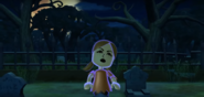 Lucia as a Zombie in Zombie Tag in Wii Party