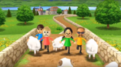 Silke, Keiko, and Jake participating in Ram Jam in Wii Party