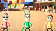 Steve, Barbara and Anna participating in Popgun Posse in Wii Party