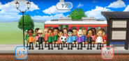 George, Patrick, Martin, Fritz, Gabriele, Fumiko, Helen, Rin, Daisuke, Abby, Tatsuaki, Alex, and Kathrin featured in Commuter Count in Wii Party