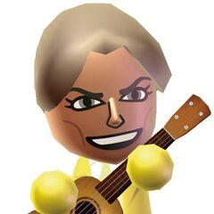 Hayley in an official Wii Music artwork. Strangely, her tie is in the wrong color.