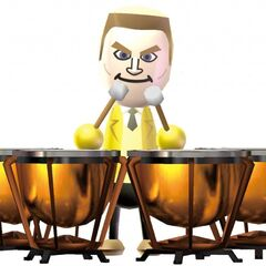 Tyrone in an official Wii Music artwork.