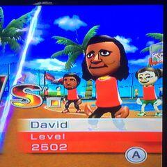 David playing Basketball at High Noon.