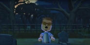 Cole as a Zombie in Zombie Tag in Wii Party