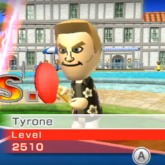 Tyrone about to play a Table Tennis match.