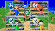 Kathrin, Matt, Asami and Pablo participating in Strategy Steps in Wii Party