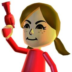 An official Wii Party artwork of Lucía.