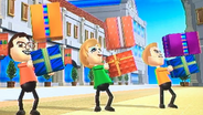 Hiromasa, Alisha and Tyrone participating in Shifty Gifts in Wii Party
