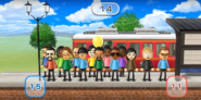 Shohei, Victor, Haru, Yoshi, Ryan, Ren, Takumi, Kentaro, Sakura, Gwen, Sandra, Misaki, Silke, and Cole featured in Commuter Count in Wii Party