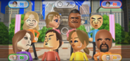 Siobhan, Tommy, Takashi, Elisa, Shinta, Mia, and Matt featured in Smile Snap in Wii Party