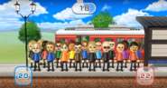 Silke, Eddy, Alisha, Sarah, Abby, Vincenzo, Lucia, Steph, Hiromasa, Ashley, Gabi, Barbara, Martin, Rainer, Michael, Sandra, Shinnosuke, and Emma featured in Commuter Count in Wii Party
