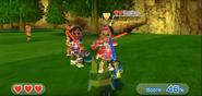 Keiko wearing Red Armor and Haru wearing Purple Armor in Swordplay Showdown