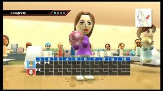 Wii Sports - Defeating Elisa in all Sports!