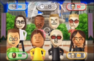 James, Tyrone, Oscar, Steph, Martin, and Chika featured in Smile Snap in Wii Party
