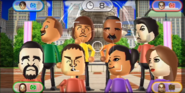 Marco, Mike, Andy, Pablo, Victor, Shinta, Miyu, and Elisa featured in Smile Snap in Wii Party