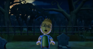 Nick as a Zombie in Zombie Tag in Wii Party