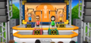 Cole, Misaki, and Fritz participating in Chin-Up Champ in Wii Party