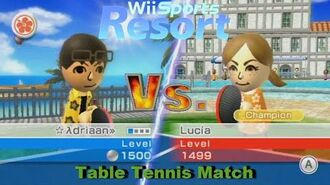 Wii Sports Resort - Table Tennis Match vs Champion Lucia All Stamps