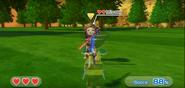 Misaki wearing Purple Armor in Swordplay Showdown