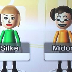 Silke (on the left) with Midori (right).