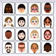 Jackie, Ren, Siobhan, Hiroshi, Lucia, Rin, Alisha, Chika, Theo, Misaki, Silke, Helen, Victor, Cole, Mia, and Sandra featured on a Bingo card in Wii Party