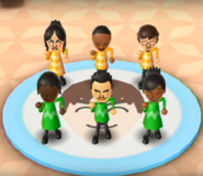 Eva, Theo, Luca, Sandra, Saburo, and Sakura featured in Swap Meet in Wii Party