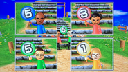 Eduardo, Miyu, Shohei and Nelly participating in Strategy Steps in Wii Party