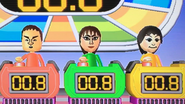 Shinta, Susana and Rin participating in Stop Watchers in Wii Party