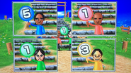 George, Eduardo, Eva and Keiko participating in Strategy Steps in Wii Party