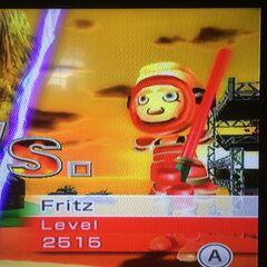Fritz sword fighting at Dusk.