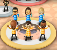 Shouta, Tomoko, Nelly, Matt, Asami, and Hiroshi featured in Swap Meet in Wii Party