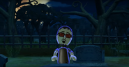 Akira as a Zombie in Zombie Tag in Wii Party